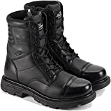 """Thorogood GEN-Flex2 8"""" Tactical Boots For Men and Women, Black Leather Side-Zip Uniform Dress Boots - Combat Boots, Police Boots, EMS Boots, and Firefighter Work Boots"""