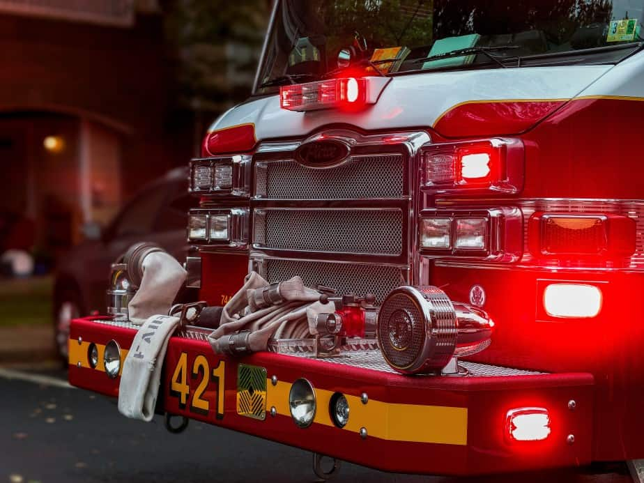 front end of fire engine