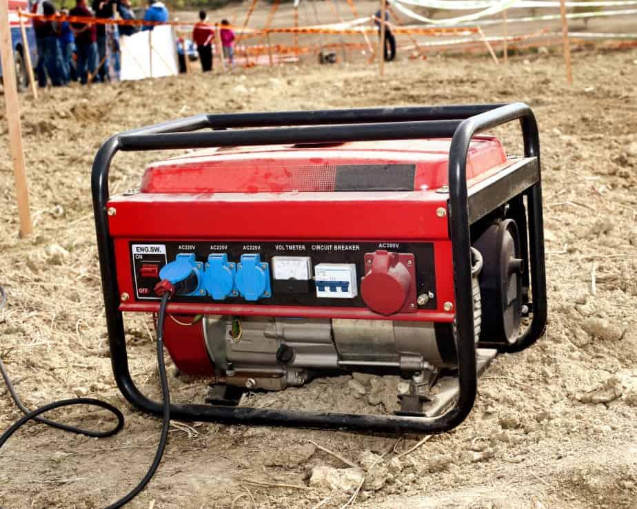 red portable generator